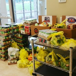 Some of the nearly 1,000 food items donated!