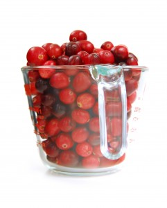 cranberries measuring cup